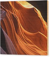 Sandstone Walls Antelope Canyon Arizona Wood Print