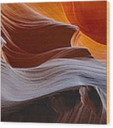 Sandstone Waves Wood Print