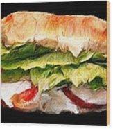 Sandwich Time Wood Print