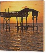 Sandy Bay Sunset Wood Print