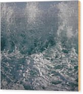 Sandy Beach Backwash Wood Print
