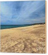 sandy beach in Piscinas Wood Print