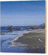 Sandy Beach On The North Coast Wood Print