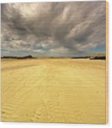 Sandy Beach, Scotland Wood Print
