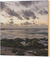 Sandy Beach Sunrise 10 - Oahu Hawaii Wood Print