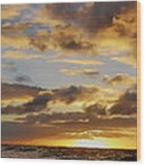 Sandy Beach Sunrise Wood Print