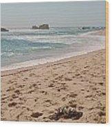 Sandy Beach With Glare  Wood Print