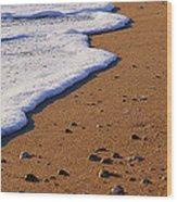 Sandy Foam Wood Print