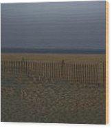 Sandy Hook At Dusk Wood Print