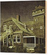 Sandy Hook Beach Home Wood Print