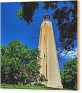 The Sandy Hook Lighthouse Wood Print