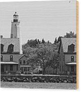 Sandy Hook New Jersey Lighthouse Wood Print
