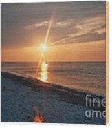 Sandy Neck Beach Sunset Wood Print