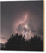 Sandy Pines Storm Wood Print
