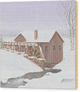 Sandy Spring Grist Mill Wood Print
