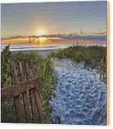 Sandy Trail Wood Print