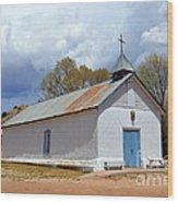 Sangre De Cristo Chapel In Cuartelez In New Mexico Wood Print