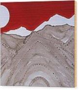 Sangre De Cristo Peaks Original Painting Wood Print