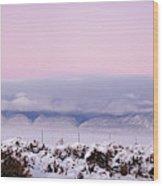 Sangre De Cristo Range With Clouds Wood Print