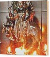Sani Murti - Temple To Saturn - India Wood Print