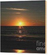 Sanibel At Sunset Wood Print