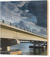 Sanibel Causeway I Wood Print by Steven Ainsworth