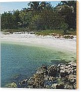 Sanibel Cove Wood Print by Anna Villarreal Garbis
