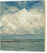Sanibel Island Clouds Wood Print