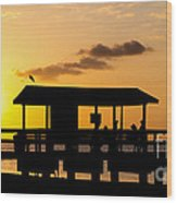 Sanibel Island Sunset Wood Print