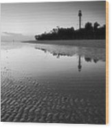 Sanibel Lighthouse And Beach II Wood Print by Steven Ainsworth