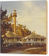 Sanibel Lighthouse Landscape Wood Print