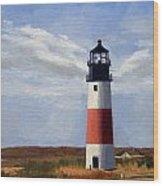 Sankaty Head Lighthouse Nantucket Massachusetts Wood Print