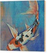 Sanke Butterfly Koi Wood Print