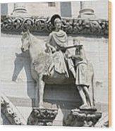 Sankt Martin Statue Lucca Wood Print