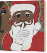 Santa Baby Wood Print