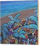 Santa Barbara Beach Wood Print by Barbara St Jean