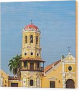 Santa Barbara Church Wood Print
