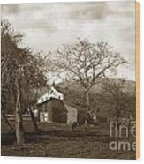 Santa Barbara Mission California Circa 1890 Wood Print