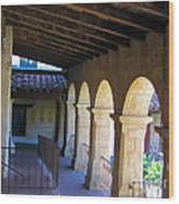 Santa Barbara Mission Cloister Wood Print