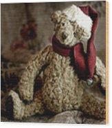 Santa Bear Wood Print