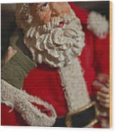 Santa Claus - Antique Ornament - 02 Wood Print