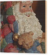 Santa Claus - Antique Ornament - 03 Wood Print