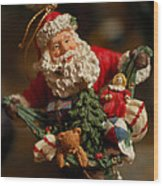 Santa Claus - Antique Ornament - 04 Wood Print