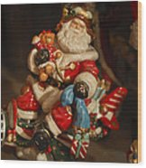 Santa Claus - Antique Ornament -05 Wood Print