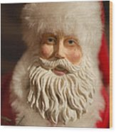 Santa Claus - Antique Ornament - 07 Wood Print