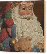 Santa Claus - Antique Ornament - 09 Wood Print by Jill Reger