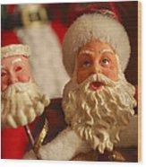 Santa Claus - Antique Ornament - 12 Wood Print