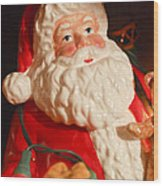 Santa Claus - Antique Ornament - 13 Wood Print by Jill Reger