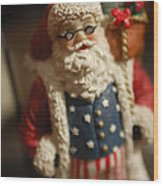 Santa Claus - Antique Ornament - 15 Wood Print