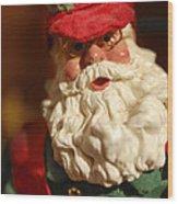 Santa Claus - Antique Ornament - 16 Wood Print